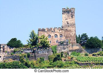 Castle Gutenfels in the Middle Rhine Valley near Bingen