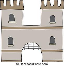 """Castle """"H"""" Over White"""