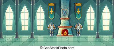 castle hall, interior of royal ballroom