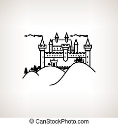 Castle Hill on a Light Background