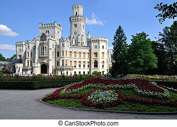 Castle Hluboka nad Vltavou in the Czech Republic