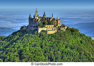 A photograph of the beautiful castle Hohenzollern in Germany
