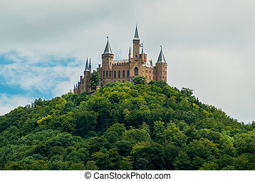 Castle Hohenzollern on the green hill