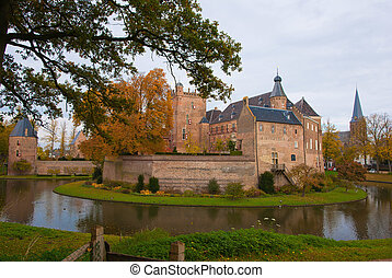 Castle huis ten berg at the Netherlands is one of the...