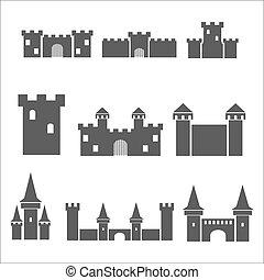 Castle icon set.
