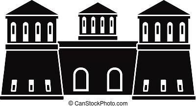 Castle icon, simple style