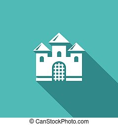 Castle icon. Vector Illustration.