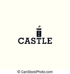 Castle icon. Vector logo template