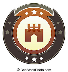 Castle imperial button