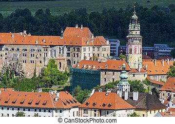 Castle in Cesky Krumlov - View of beautiful Czech castle in ...