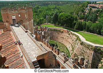 Castle in Coca, Spain