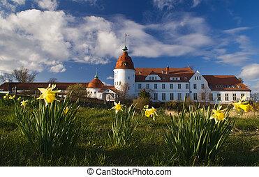 Castle in Denmark, spring