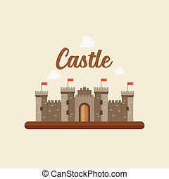 Castle in flat style design