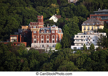 castle in forest Budapest Hungary