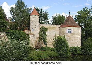 Castle in Franconia - Castle in Dinkelsb?hl...