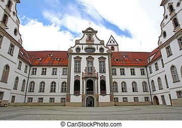 Castle in Fussen. Bavaria, Alps , Germany, Europe
