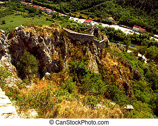 Ruins of castle in Knin in Croatia - the medieval capital of the Kingdom of Croatia and in the years 1991 - 1995 the capital of the Republic of Serbian Krajina.