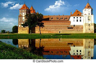Castle in Mir in Belarus