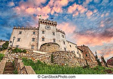 Castle in Rosignano Marittimo, Leghorn, Tuscany, Italy