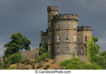 Castle in Scotland - Castle on a hill in Edinburgh,...