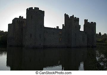 Castle in sillhouette