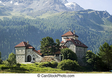 castle in the alps