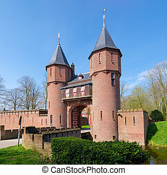 castle in the netherlands - entrance of castle The Haar in...