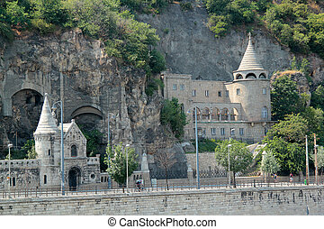 castle in the rock Budapest Hungary