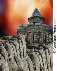 Castle in the rocks