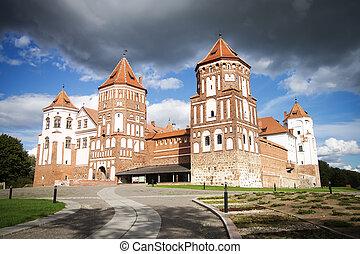 Castle in the town of Mir. Belarus.