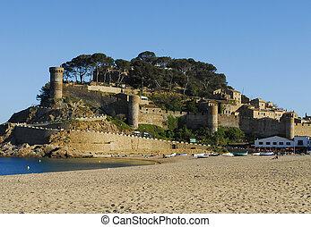 castle in Tossa Del Mar, Costa Brava