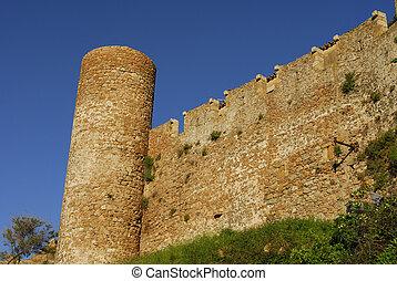 castle in Tossa Del Mar,Costa Brava,Catalonia,Spain