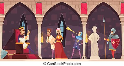 Castle Interior People Banner