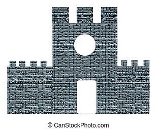 Castle isolated on white background