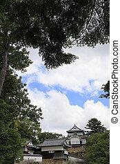 castle keep of Bitchu Matsuyama castle in Okayama, Japan