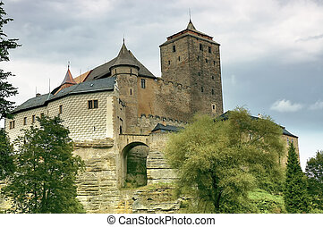 View of the historic castle in the Czech Republic