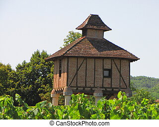 Castle, Lagrezette, pigeon-house, pigeon-loft, pigeon, loft, house, dovercote,