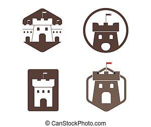 castle logo icon vector illustration design