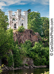 castle Monrepos on a rock in the Gulf of Finland