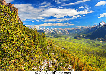 Castle Mountain Banff National Park - View from Castle ...