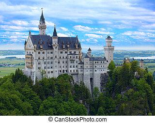Castle Neuschwanstein in Bavarian Alps