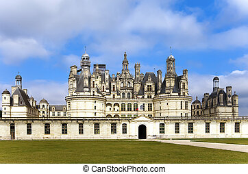 castle of a valley of the river Loire. France. Chambord castle (Chateau de Chambord)