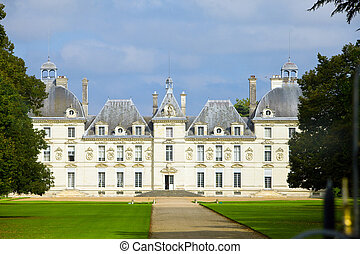 castle of a valley of the river Loire. France. Chateau de...