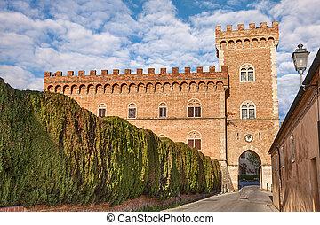 castle of Bolgheri in Tuscany, Ital