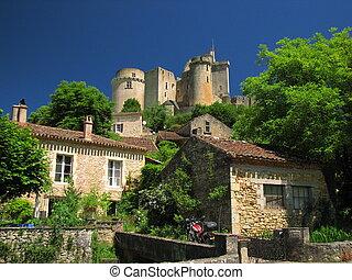 Castle of Bonaguil and the village