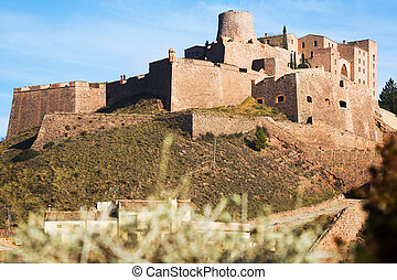 Castle of Cardona on winter day. Catalonia, Spain