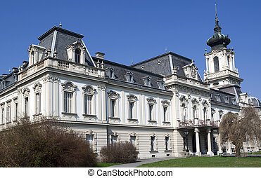 Castle of Festetics on a sunny day in Keszthely - Hungary