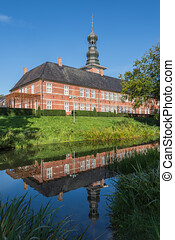 Castle of Husum with reflection, Schleswig Holstein, Germany