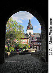Castle of Idstein in Germany