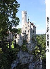 Castle of Liechtenstein - a fairy-style castle in the south-...